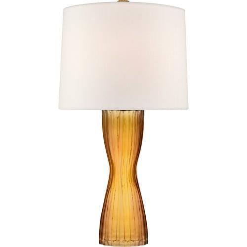 Barbara Barry Seine 34 inch 100 watt Amber Table Lamp Portable Light, Medium