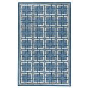 Square Trellis Lt. Blue - Rectangle - 5' x 8'