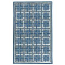 Square Trellis Lt. Blue - Rectangle - 5' x 8'