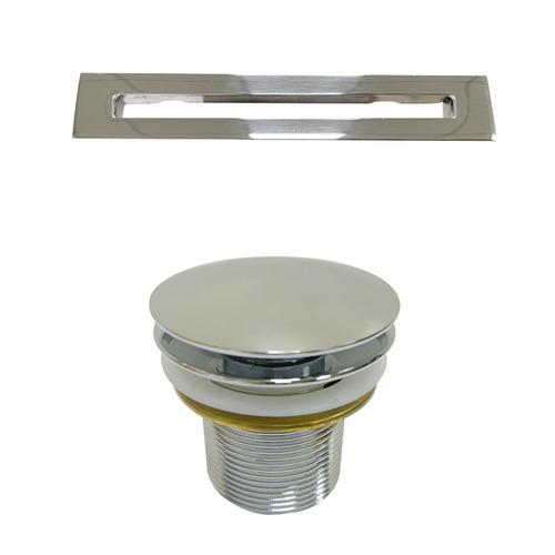 """Product Image - Pelham 65"""" Acrylic Tub with Integral Drain and Overflow - Polished Chrome Drain and Overflow"""