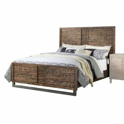 ACME Andria Queen Bed - 21290Q - Reclaimed Oak