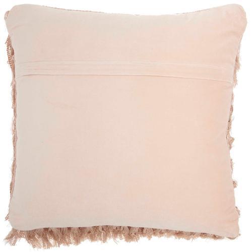 """Shag Dc122 Blush 20"""" X 20"""" Throw Pillow"""