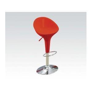 Acme Furniture Inc - Rd/chrome Short Back ADJ.STOOL