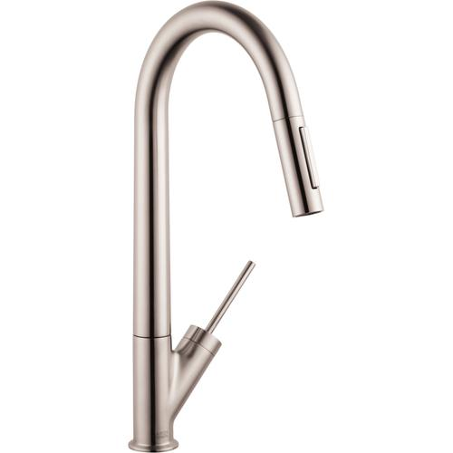 AXOR - Steel Optic HighArc Kitchen Faucet 2-Spray Pull-Down, 1.75 GPM