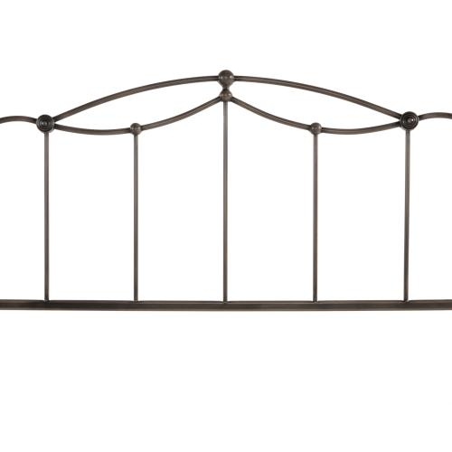 Fashion Bed Group - Affinity Metal Headboard Panel with Straight Spindles and Detailed Castings, Blackened Taupe Finish, Full