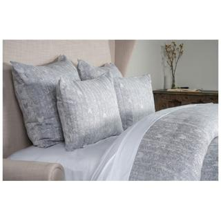 French Herringbone Storm 3Pc King Duvet Set