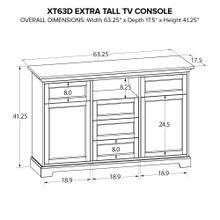 XT63D Extra Tall Custom TV Console