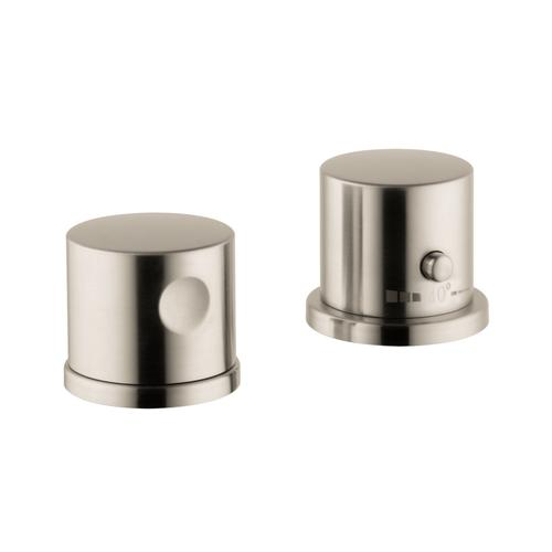 Brushed Nickel 2-hole rim mounted thermostatic bath mixer