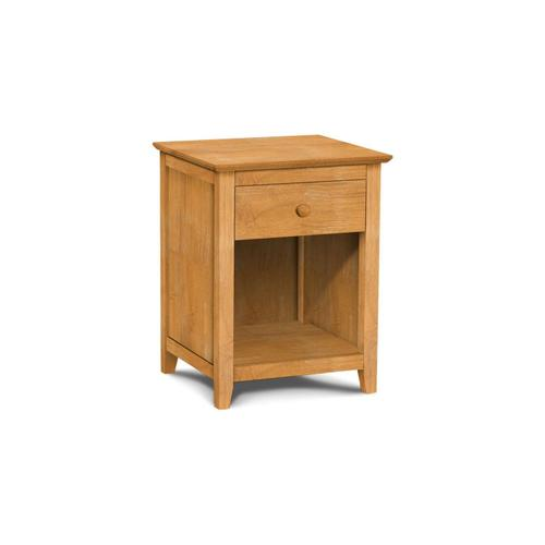 John Thomas Furniture - Lancaster 1-Drawer Nightstand with Solid wood panel sides & full extension drawer glides