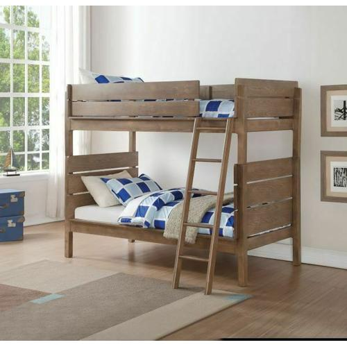 ACME Ranta Twin/Twin Bunk Bed - 37400 - Antique Oak