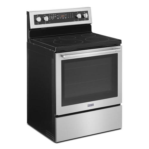 Maytag - 30-Inch Wide Electric Range With True Convection And Power Preheat - 6.4 Cu. Ft.