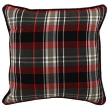 VE Holiday Plaid Red Multi 18x18