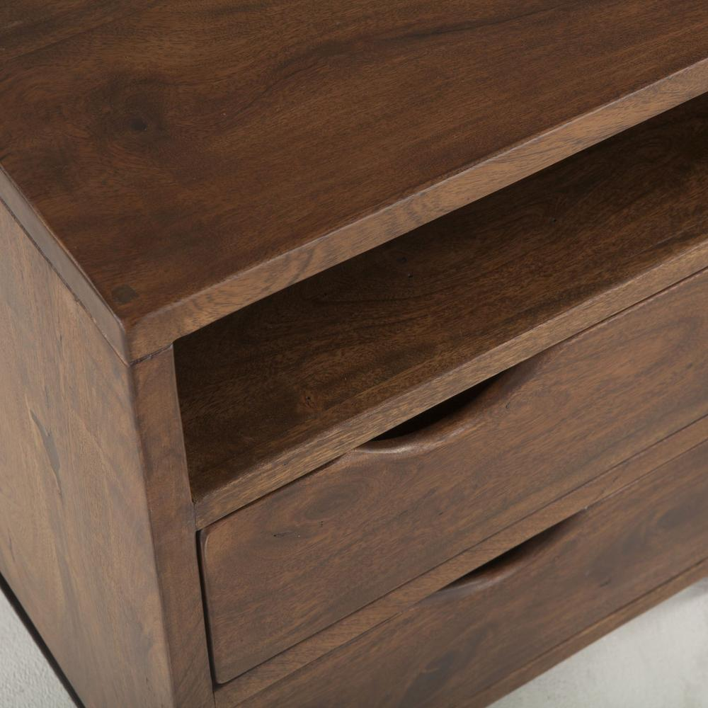 "London Loft Night Chest 23"" Walnut"