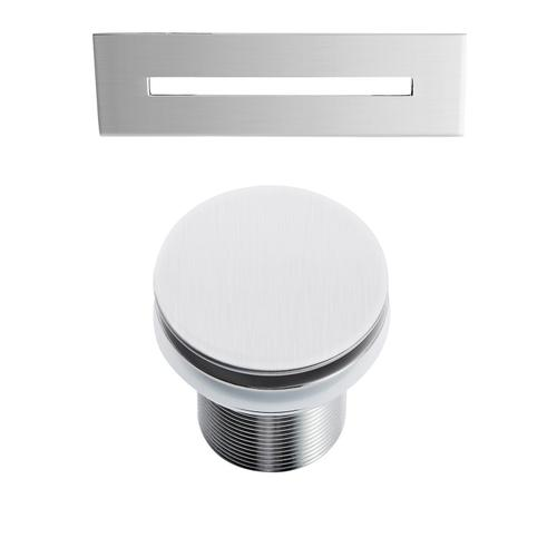 """Ceres 59"""" Acrylic Tub with Integral Drain and Overflow - Brushed Nickel Drain and Overflow"""