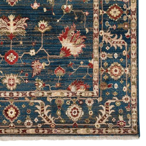 Landis-Keshan Cerulean Blue Machine Woven Rugs