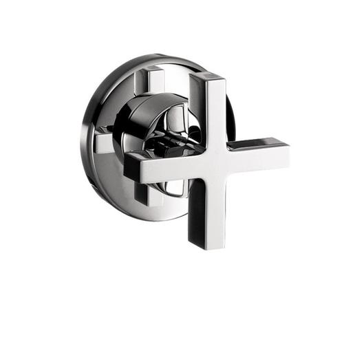 Chrome Volume Control Trim with Cross Handle