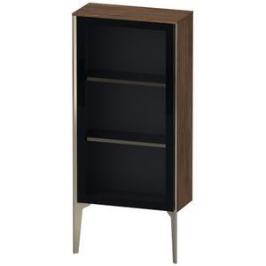 Duravit - Semi-tall Cabinet With Mirror Door Floorstanding, Walnut Dark (decor)