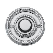 Polished Chrome Beaded Bell Button