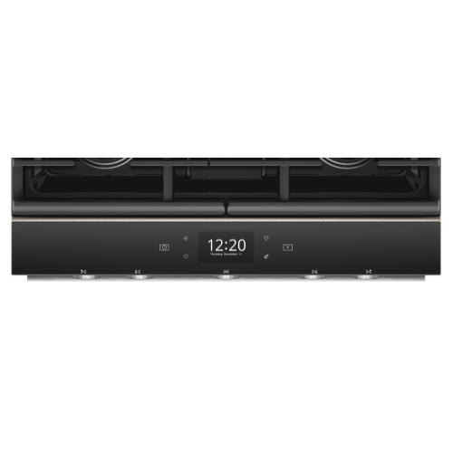 Whirlpool - 5.8 cu. ft. Smart Slide-in Gas Range with EZ-2-Lift Hinged Cast-Iron Grates-CLOSEOUT