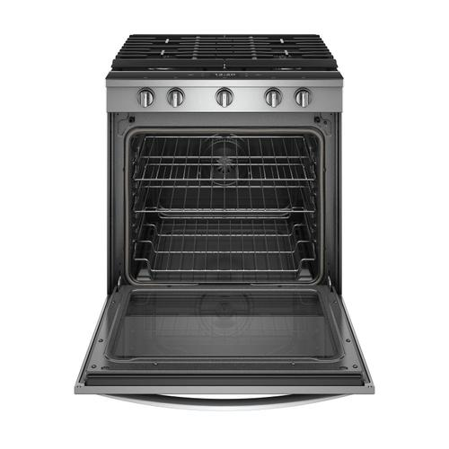 Whirlpool - 5.8 cu. ft. Smart Slide-in Gas Range with EZ-2-Lift™ Hinged Cast-Iron Grates Fingerprint Resistant Stainless Steel