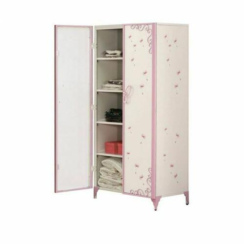 ACME Priya II Armoire - 30540 - White & Light Purple