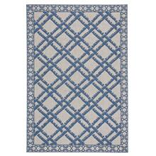 "Finesse-Bamboo Trellis Capri Blue - Rectangle - 3'11"" x 5'6"""