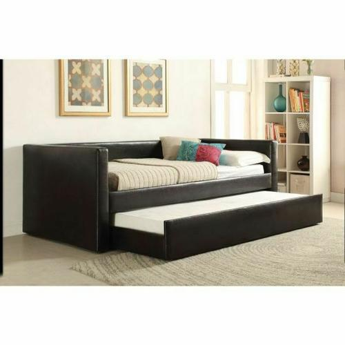 ACME Aelbourne Daybed & Trundle - 39140 - Black PU