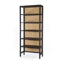 Black Wash Mango Finish Caprice Large Bookshelf