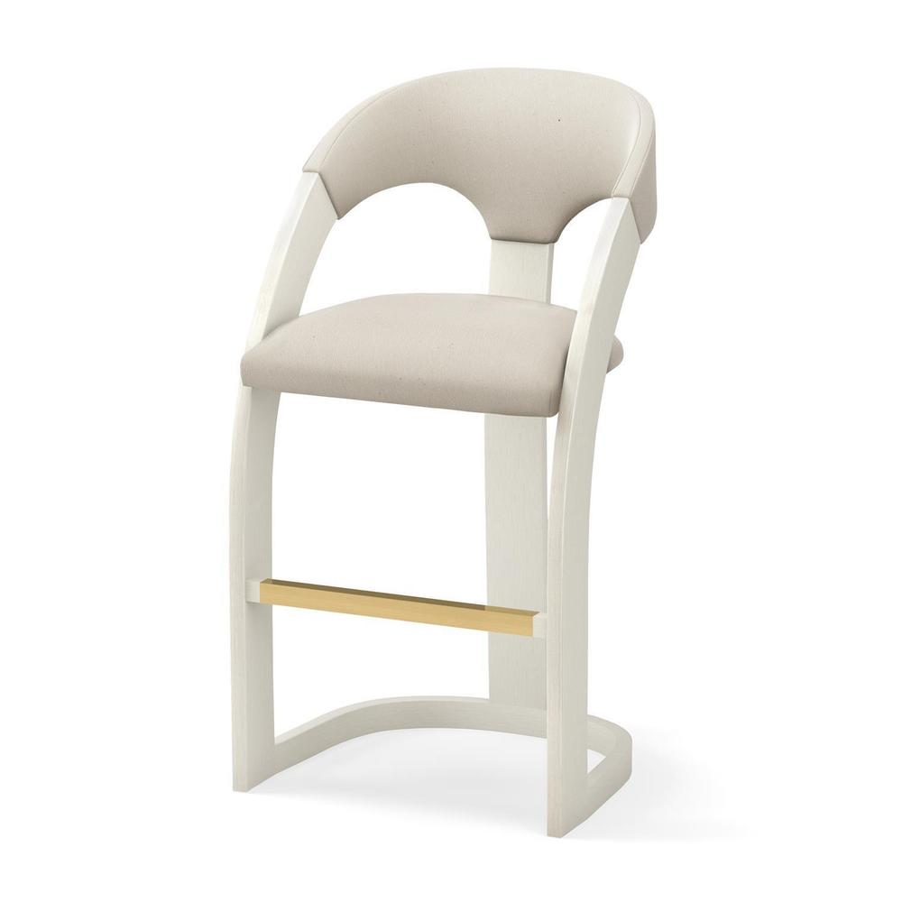 See Details - Delia Bar Stool-Antique White-Muslin