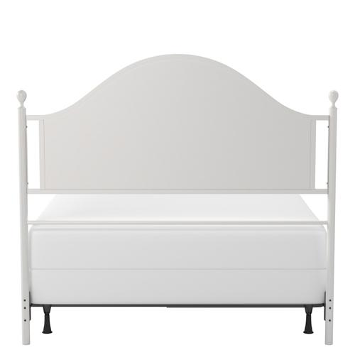 Cumberland Queen Metal Bed, Brushed White