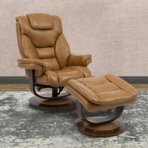MONARCH - BUTTERSTOTCH Manual Reclining Swivel Chair and Ottoman