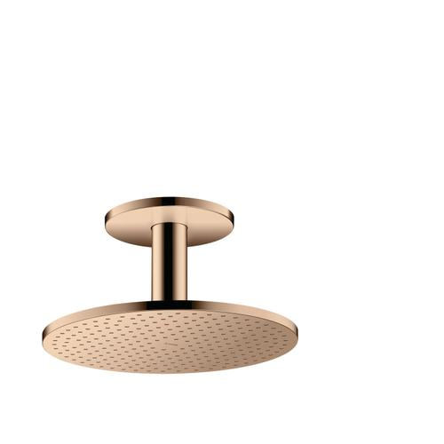 Polished Red Gold Overhead shower 300 1jet with ceiling connection