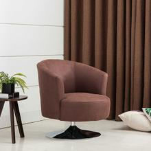 See Details - Twist Accent Chair in Cocoa Fabric