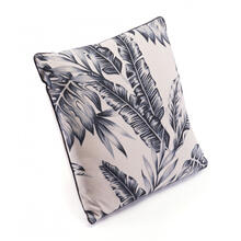 Leaves Pillow Black & Beige