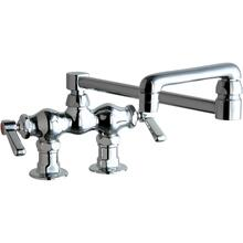 "Deck-mounted manual sink faucet with 3-3/8"" centers"
