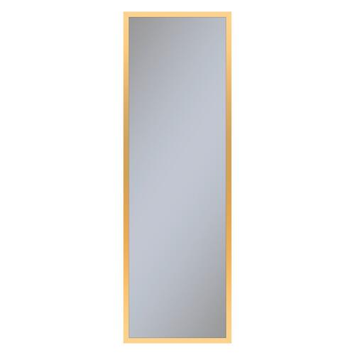 "Profiles 15-1/4"" X 48"" X 4"" Framed Cabinet In Matte Gold and Non-electric With Reversible Hinge (non-handed)"