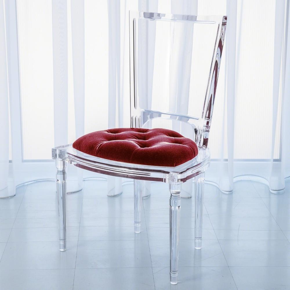 See Details - Marilyn Acrylic Side Chair-Red Pepper