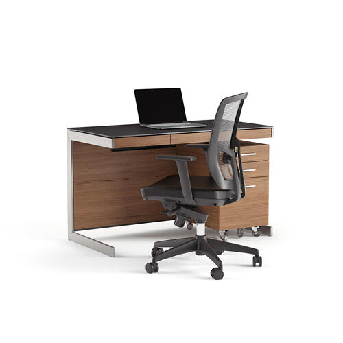 Compact Desk 6003 in Natural Walnut