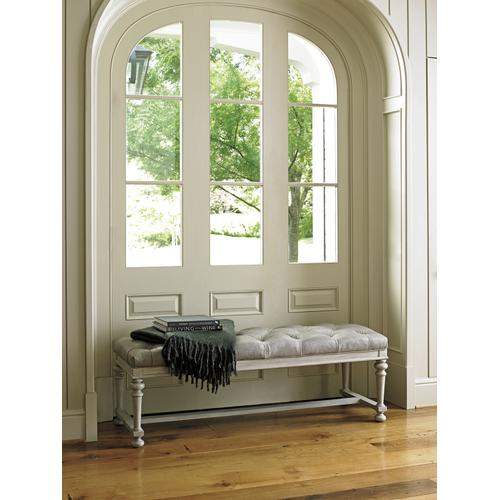 Bellport Leather Bed Bench