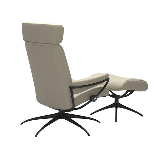 Stressless By Ekornes - Stressless® London Star Adjustable headrest Chair with Ottoman