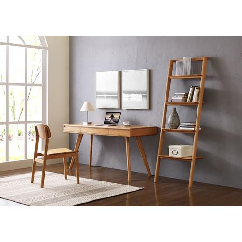 Currant Leaning Bookshelf, Caramelized