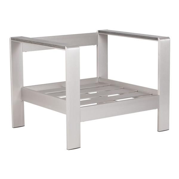 See Details - Cosmopolitan Arm Chair (frame Only) Brushed Aluminum