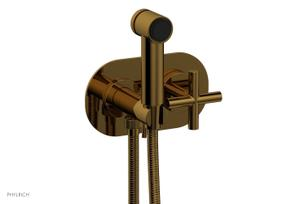 TRANSITION - Wall Mounted Bidet, Cross Handle 120-64 - French Brass Product Image