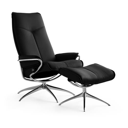 Stressless By Ekornes - Stressless City High Back Star Base Chair and Ottoman