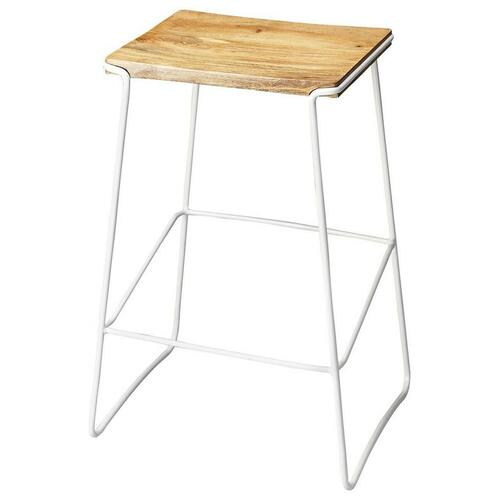 This stationary bar stool has a contemporary design and are perfect for the individual who wants style and reliability at an affordable price. Perfect for a cafe, restaurant, or office, this stool will look great wherever you decide to put it. This bar stool lets you sit comfortably, without straining your back. It can also be used in the kitchen.