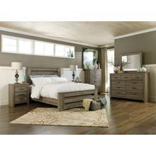 See Details - Zelen - Warm Gray 3 Piece Bed Set (Queen)