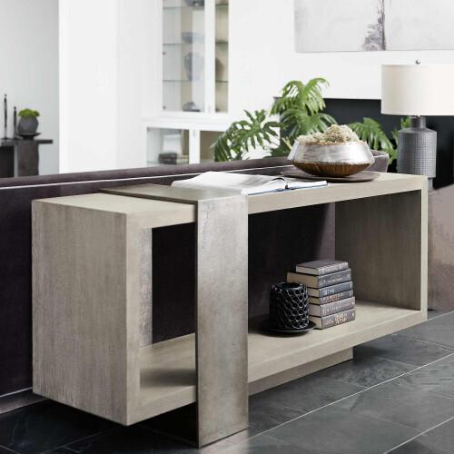 Gallery - Linea End Table in Cerused Charcoal (384)
