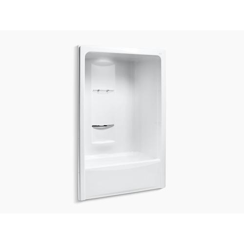 """White 60"""" X 35"""" Bath and Shower Stall With Left Hand Drain, Requires Grab Bar"""
