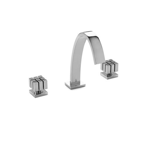 Brushed Nickel Aqueduct with Novem Knob