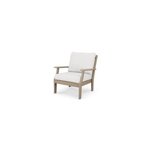 Braxton Deep Seating Chair in Vintage Sahara / Natural Linen